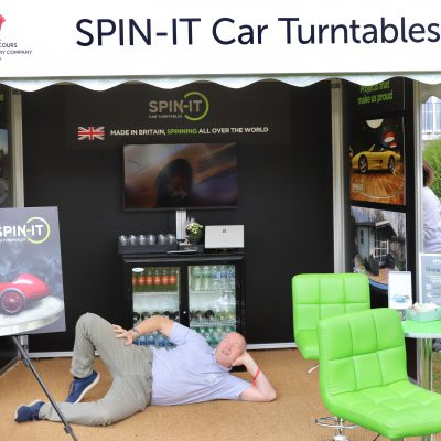 Mark Parkin at SPIN IT stand London Concours 2019