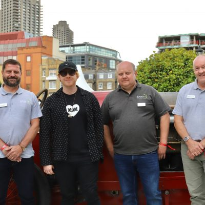SPIN IT Directors with Rupert Grint at London Concours 2019