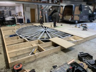 Spin-It 360 Stage construction