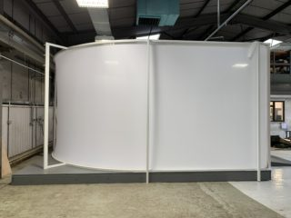 Spin-It Photo Studio Side Elevation.